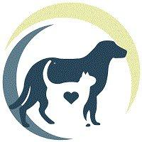 New Beginning Animal Rescue logo with dog, cat and heart in circle