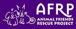 Animal Friends Rescue Project (Pacific Grove, California) logo with cat, dog