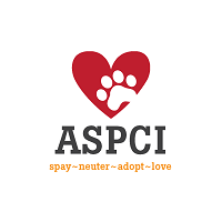 """Animal Shelter of Pell City (Pell City, Alabama) ASPCI logo with heart, paw print, and tagline """"Spay neuter adopt love"""""""