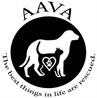 """Animal Aid for Vermilion Area (Abbeville, Louisiana) logo with dog, cat, heart and tagline """"The best things in life are rescued"""""""