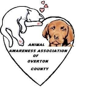 Animal Awareness Association of Overton County (Monroe, Tennessee) logo with dog cat in heart