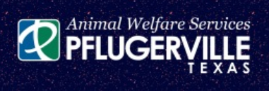 Pflugerville Animal Welfare Services (Pflugerville, Texas) logo with P and city name