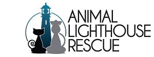 Animal Lighthouse Rescue (New York, New York) logo with cat, dog, lighthouse