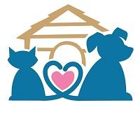 Animal Welfare Society of New Jersey (Woodbine, New Jersey) logo with cat, dog, heart and doghouse