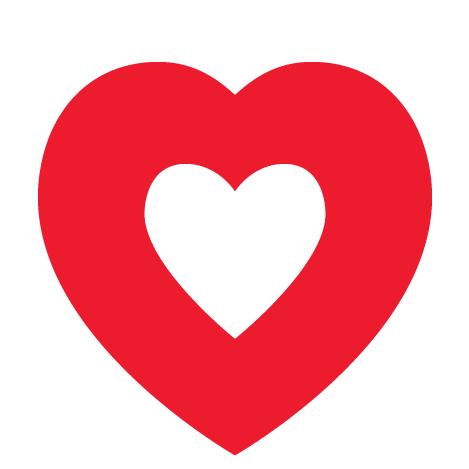 Atlanta Humane Society and SPCA of Georgia (Atlanta, Georgia) logo red and white heart