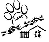 BARC - Basic Animal Rights Council (Parsons, Kansas) logo with dog and cat, chains breaking, and a pawprint