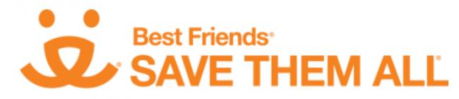 "Best Friends Animal Sanctuary (Kanab, Utah) logo with ""Save Them All"""