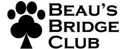 Beau's Bridge Club (Antioch, California) logo of a spade made of a paw print