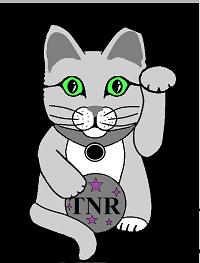 Beckoning Cat Project (Williamsport, Pennsylvania) logo of waving cat with TNR sign