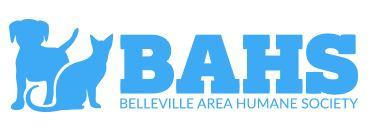 Belleville Area Humane Society-BAHS (Belleville,Illinois) logo blue dog and cat silhouette