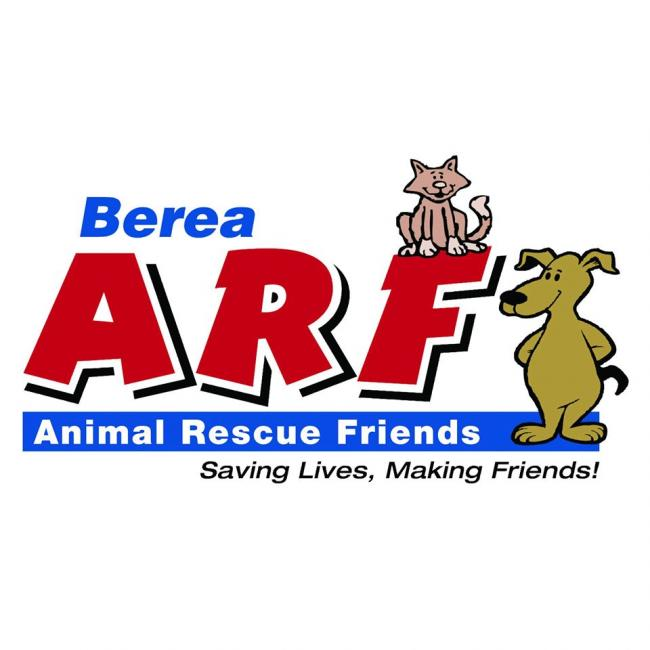 Berea Animal Rescue Fund (Berea, Ohio) logo dog and cat text saving lives making friends