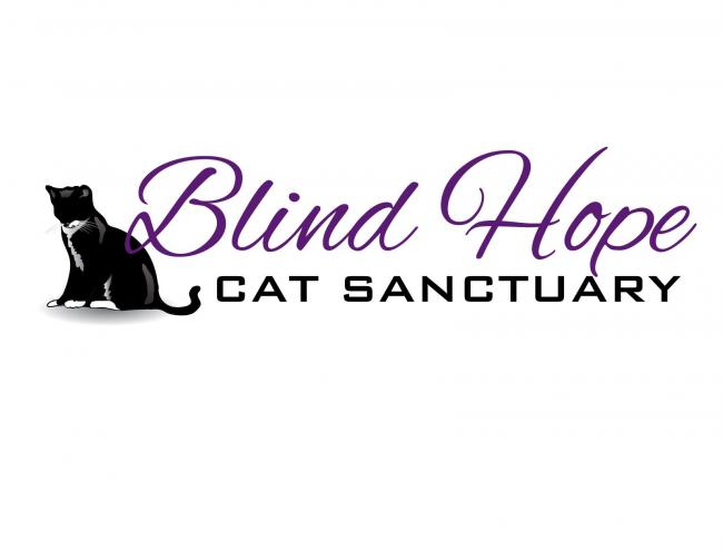 Blind Hope Cat Sanctuary (Rogers, Arkansas) logo with blind cat