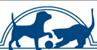 Blue Mountain Humane Society (Walla Walla, Washington) blue logo with silhouette of a cat and dog playing with a ball