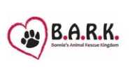 Bonnie's Animal Rescue Kingdom (B.A.R.K.),(Woodcliff Lake, New Jersey) logo red heart with black paw and BARK in black