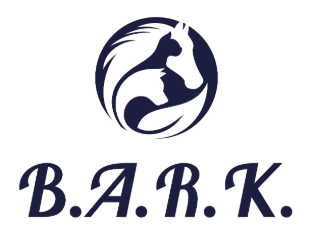 Born Again Rescue and Kennel (McMinnville, Tennessee) logo with horse, cat, and dog silhouette