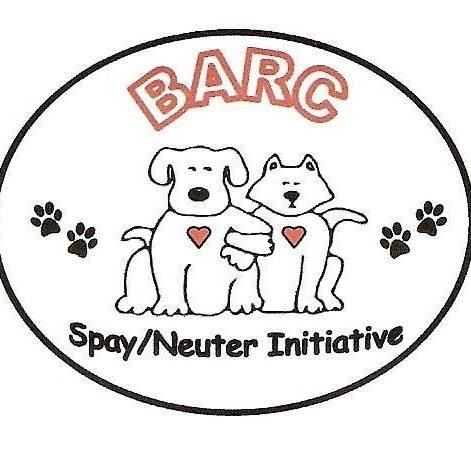 Branch Area Rescue Coalition (Coldwater, Michigan) logo with dog cat and pawprints in circle