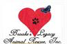 Brooke's Legacy Animal Rescue (Naples, Florida) logo with heart with pawprint and butterfly