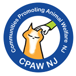 Communities Promoting Animal Welfare NJ CPAWNJ (Montclair, New Jersey) logo of cat being pet