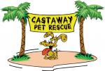 Castaway Pet Rescue (Round Lake Beach, Illinois) logo of dog on desert island