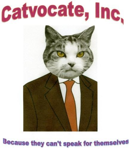 Catvocate, Inc. (Jefferson, Georgia) logo with cat in suit