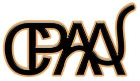 """Central Pennsylvania Animal Alliance (Mechanicsburg, Pennsylvania) logo with """"CPAA"""" in black with a gold outline"""
