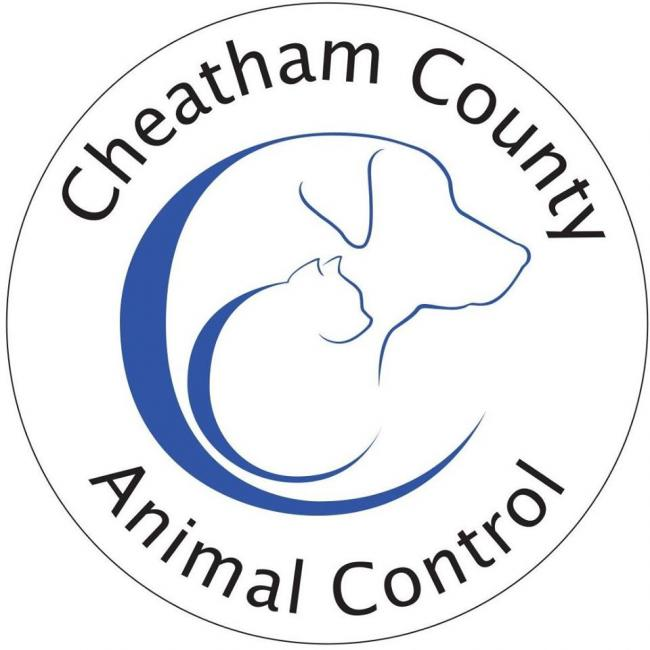 Cheatham County Animal Control (Pegram, Tennessee) logo with dog and cat heads in circle