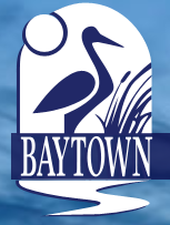 City of Baytown Animal Services (Baytown, Texas) logo with bird and willows in blue above city name