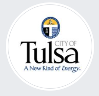 City of Tulsa Animal Welfare, (Tulsa, Oklahoma) logo white circle with City of Tulsa text inside