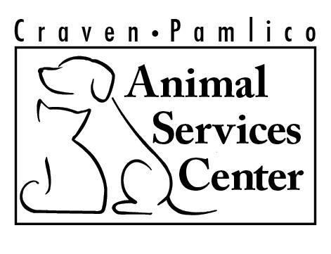 Craven-Pamlico Animal Services (New Bern, North Carolina) logo with dog and cat