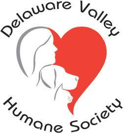 Delaware Valley Humane Society (Unadilla, New York) logo human dog and cat in heart