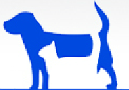 Dona Ana County Humane Society (Las Cruces, New Mexico) logo with white cat in front of blue dog