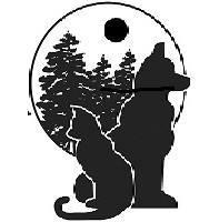 Eastern Madera County SPCA (Oakhurst, California) logo of cat, dog and trees