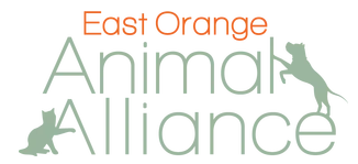 East Orange Animal Alliance (Maplewood, New Jersey) logo with text and cat and dog on sides