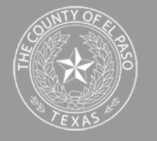 El Paso County Animal Welfare Department, (El Paso, Texas) logo grey circle with star and white text
