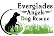 Everglades Angels Dog Rescue Inc, (Pompano Beach, Florida), logo drawing of black dog sitting in green grass