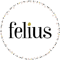 Felius (Omaha, Nebraska) logo of Felius in center of circle
