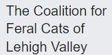 The Coalition for Feral Cats of Lehigh Valley (Nazareth, Pennsylvania) logo text of organization name
