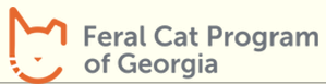Feral Cat Program of Georgia (Alpharetta, Georgia) logo of orange outline of cat head and name of organization