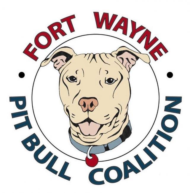 Fort Wayne Pit Bull Coalition (Fort Wayne, Indiana) logo pit bull head in circle