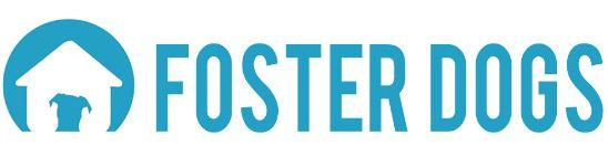 Foster Dogs Inc (Brooklyn, New York) logo with blue dog on white dog house in blue circle
