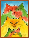 Friends for Felines (Blasdell, New York) logo cats in rainbow colors