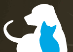 Friends for Life Animal Shelter (Houston, Texas) logo of dog and cat silhouette
