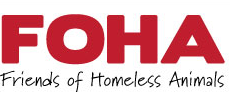 Friends of Homeless Animals of No. NJ (Hawthorne, New Jersey) logo of FOHA in red