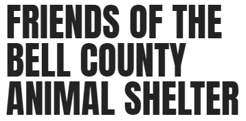 Friends of the Bell County Animal Shelter (Middlesboro, Kentucky) logo is org name in black all caps letters