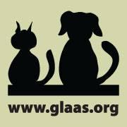 Green Lake Area Animal Shelter (Green Lake, Wisconsin) logo is square with a black silhouette of a cat and dog