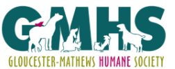 Gloucester-Mathews Humane Society (Gloucester, Virginia) green GMHS Logo with outline of animals
