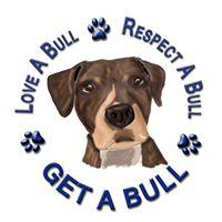 Get-A-Bull (Huntington, New York) logo with tagline Love A Bull, Respect A Bull, Get a Bull