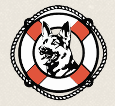 Gilligan's Rescue, (Nederland, Texas), logo with dog in a life preserver