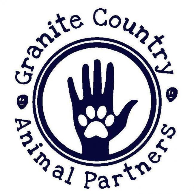 Granite Country Animal Partners, inc (Hartwell, Georgia) logo hand and pawprint in circle