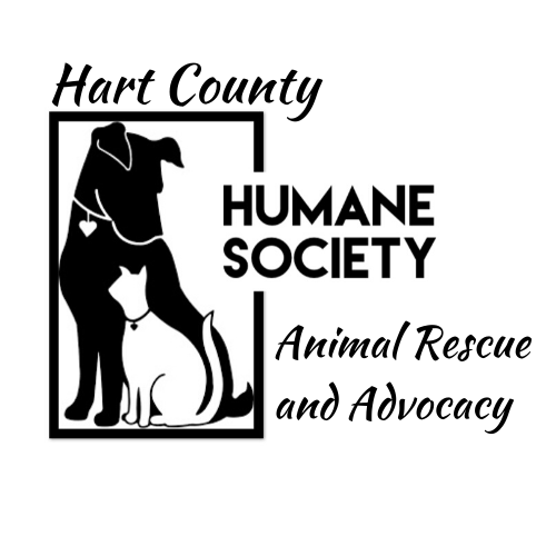 Hart County Humane Society (Hartwell, Georgia) logo with dog and cat in square animal rescue and advocacy